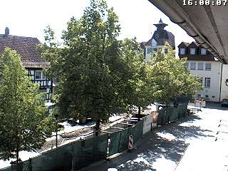 Webcam Marktplatz mit Rathaus Rimbach